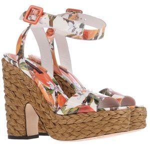 NWT Dolce & Gabbana sandals straw platform
